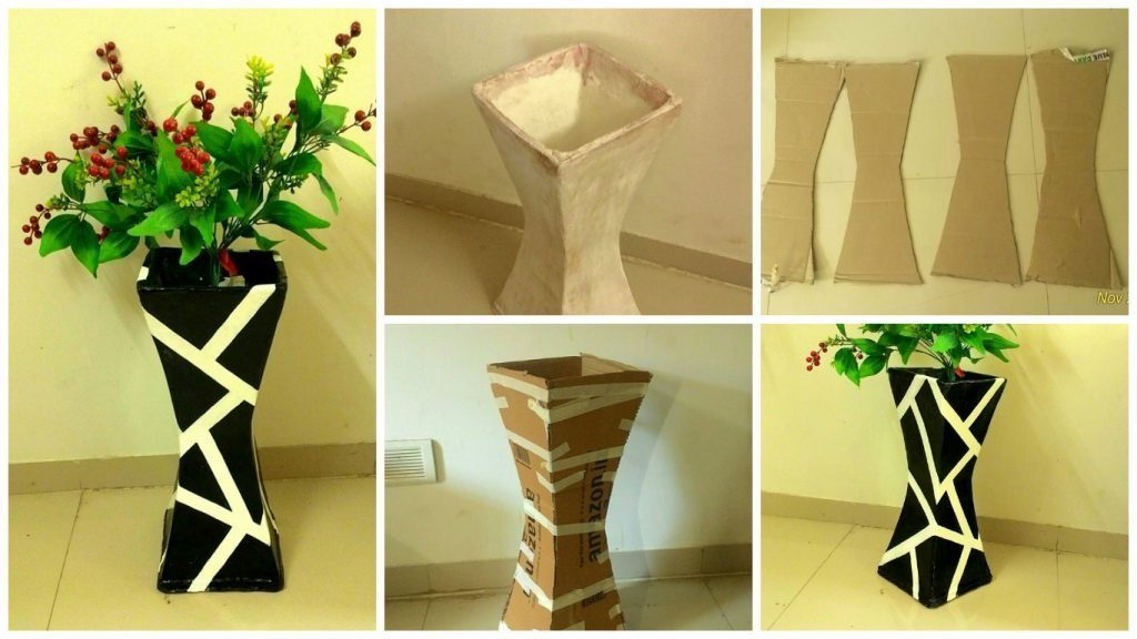 How to Make Vase From Cardboards