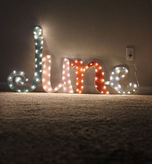 Create Your Custom Marquee Sign DIY: Beautiful Ideas for Room Decoration with Simple Crafts
