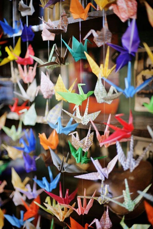 Paper Crane Curtains DIY: Beautiful Ideas for Room Decoration with Simple Crafts