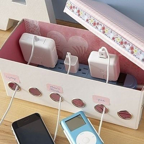 Power Strip Organizer DIY: Beautiful Ideas for Room Decoration with Simple Crafts