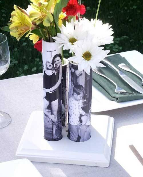 PVC Pipe Photo Vases DIY Ideas To Turn Your Photos Into Creative Gifts