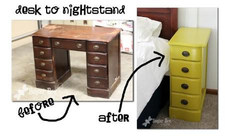 nightstand Ways to Repurpose and Reuse Broken Household Items