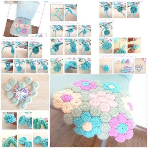 Crochet Ideas: DIY Flower Hook Rug step by step tutorial Creative DIY Crochet Patterns For Beginners