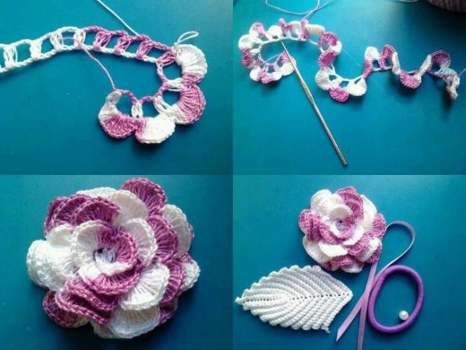 Crochet Ideas: DIY Flowers Crafts step by step tutorial Creative DIY Crochet Patterns For Beginners