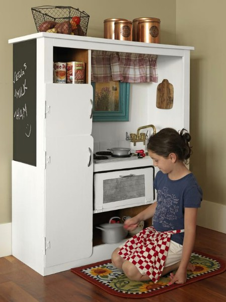 play-kitchen Ways to Repurpose and Reuse Broken Household Items