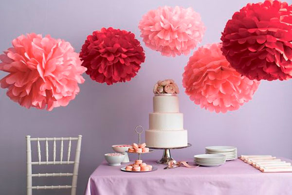 Red Birthday Flower Beautiful Tissue Paper Craft Ideas