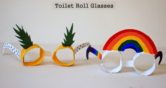 Glasses Creative DIY Toilet Paper Roll Craft Ideas