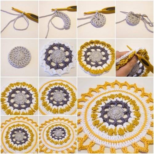 Crochet Ideas: Handmade Mandala step by step tutorial Creative DIY Crochet Patterns For Beginners