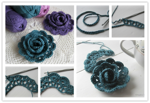 Crochet Ideas: Lace ribbon rose flowers step by step tutorial Creative DIY Crochet Patterns For Beginners