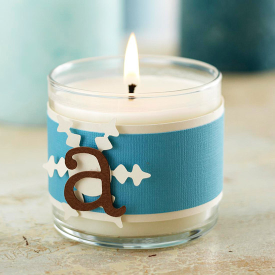 Candle with Monogram Creative DIY Ideas to Decorate A Candle