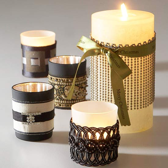 Ribbon-Wrapped Candles Creative DIY Ideas to Decorate A Candle