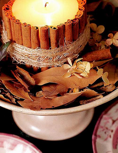 Wrap Candle With Cinnamon Sticks Creative DIY Ideas to Decorate A Candle