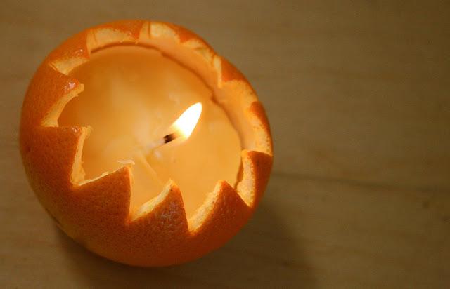 Orange Peel Candle Creative DIY Ideas to Decorate A Candle
