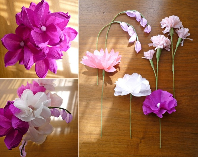 Lovely Flower - Tissue Paper Craft Ideas Beautiful Tissue Paper Craft Ideas
