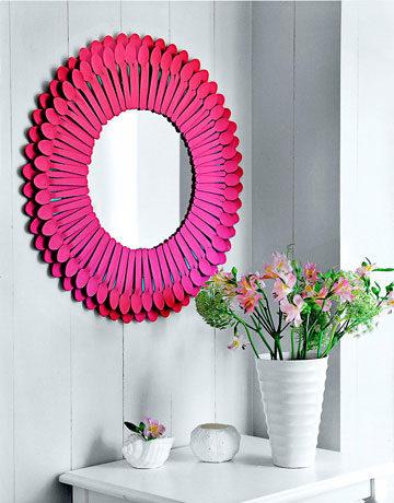 Plastic Spoon: Mirror Creative Plastic Spoon Craft Ideas