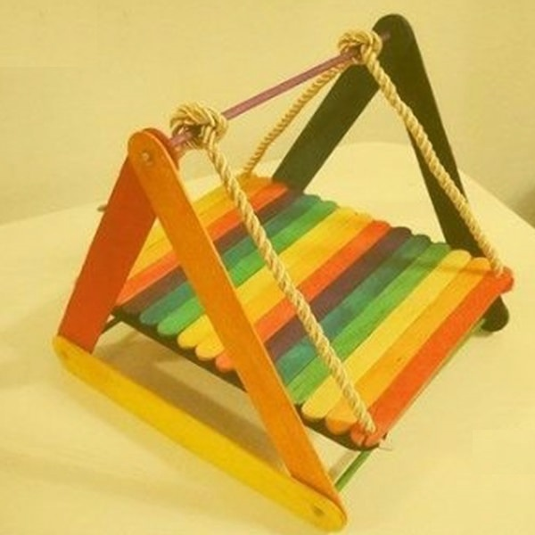 Popsicle Stick Swing Chair Popsicle Stick Crafts Ideas for Adults