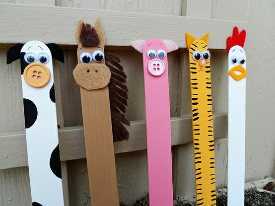 Popsicle Stick Animal Bookmark Easy Popsicle Stick Crafts & Activities for Kids