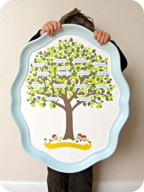 Family Tree Serving Tray - Mother's Day Mother's Day Crafts Ideas That She'll Treasure