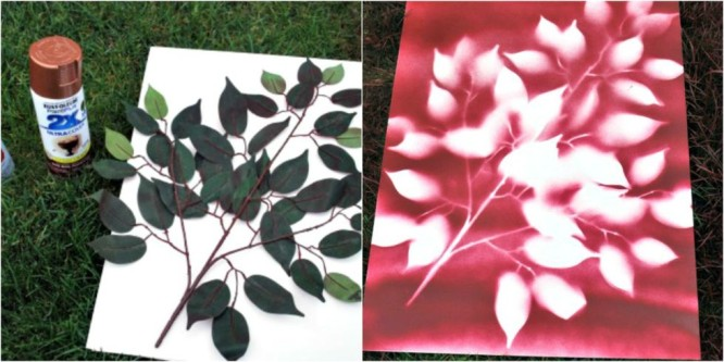 Spray Leaf Art - Mother's Day Mother's Day Crafts Ideas That She'll Treasure