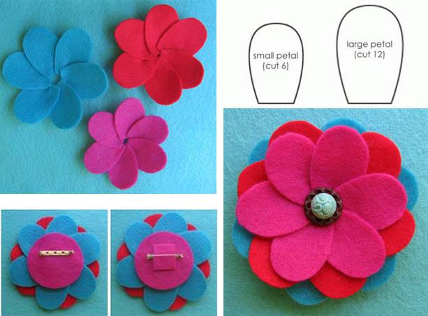 Felt Flowers - Mother's Day Mother's Day Crafts Ideas That She'll Treasure