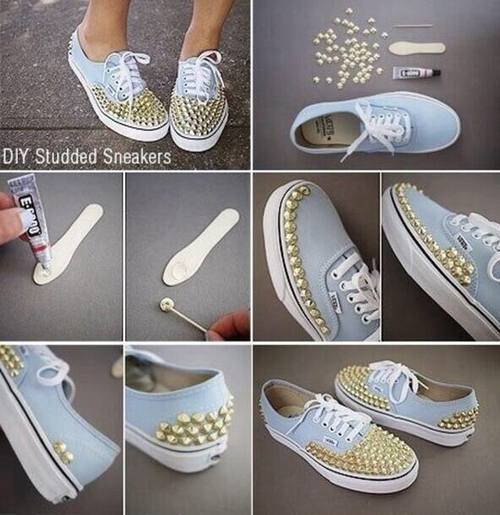DIY Sneakers - Mother's Day Mother's Day Crafts Ideas That She'll Treasure
