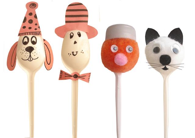 Plastic Spoon: Puppets Creative Plastic Spoon Craft Ideas