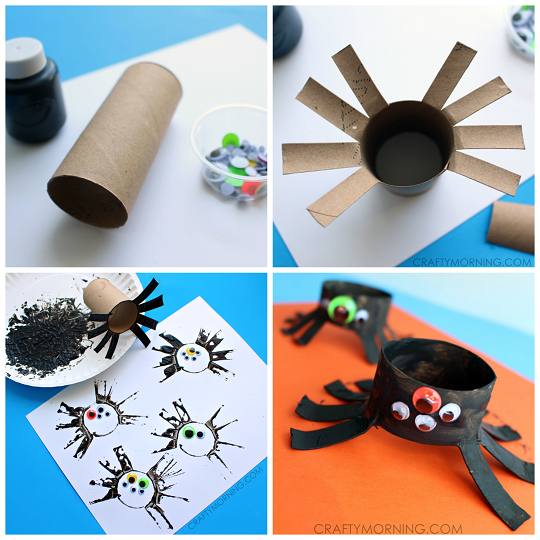 Spider Toilet Paper Roll Craft Creative DIY Toilet Paper Roll Craft Ideas