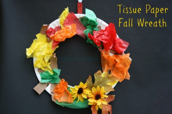 Tissue Paper Fall Wreath Beautiful Tissue Paper Craft Ideas