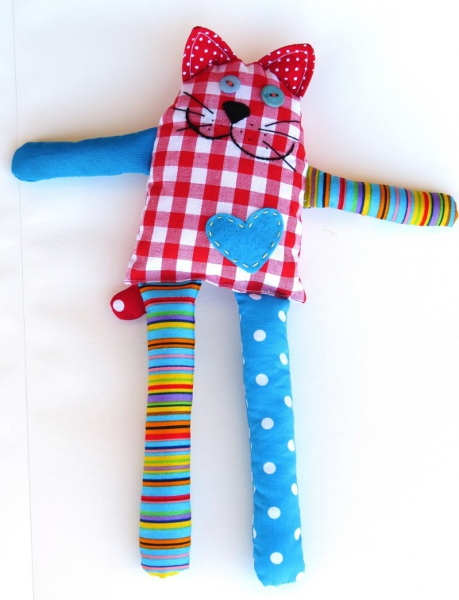 Bernie-the-cat-toy-free-sewing-pattern Creative Easy Craft Ideas For Sewing Toys
