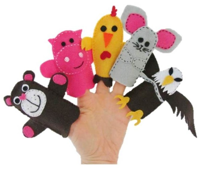 finger-puppets-toy-sewing-free-pattern-and-tutorial Creative Easy Craft Ideas For Sewing Toys