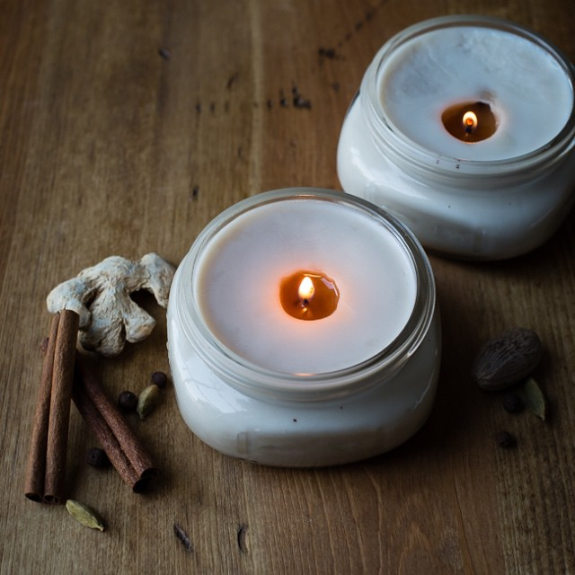 Chai scented candles DIY Candle Decoration Ideas for Festivals, Birthdays and Celebrations