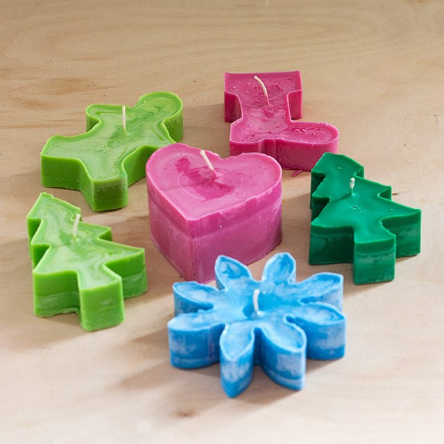 Cookie cutter candles DIY Candle Decoration Ideas for Festivals, Birthdays and Celebrations