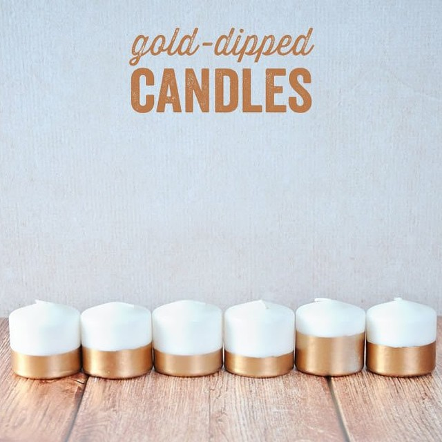 Gold-dipped candles DIY Candle Decoration Ideas for Festivals, Birthdays and Celebrations