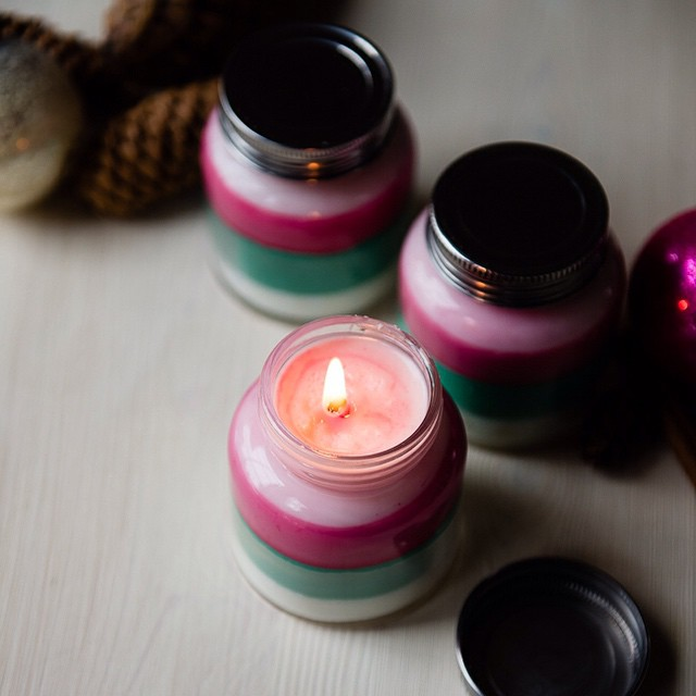 Layered scent candles DIY Candle Decoration Ideas for Festivals, Birthdays and Celebrations