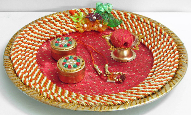 navratri-decorations-ideas-thali-decoration Kids Friendly Navratri Decoration Art & Craft Ideas