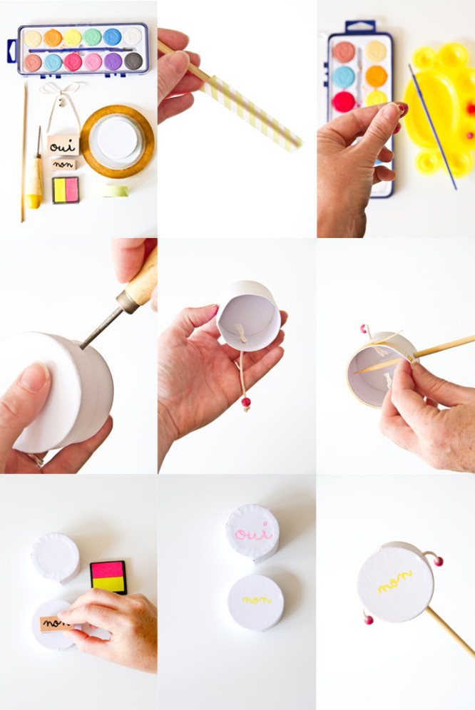 Kids Craft Idea: Hand Drum