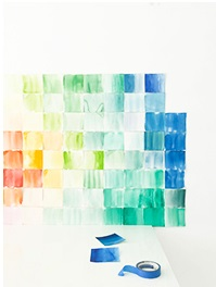 WATERCOLOR PAPER SQUARES BACKDROP FOR HOME DECORATION