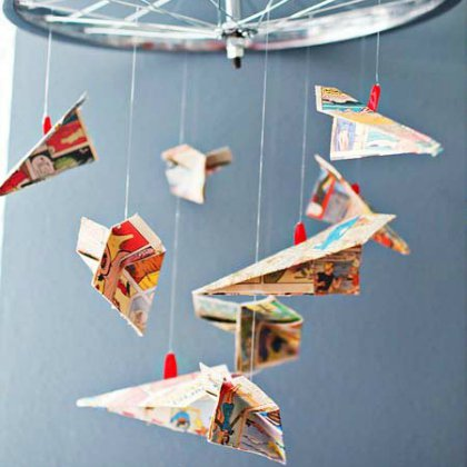 easy-airplane-mobile Aircraft Ideas for Kids