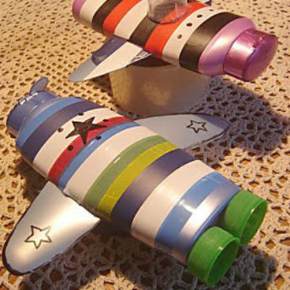 shampoo-bottle-planes Aircraft Ideas for Kids