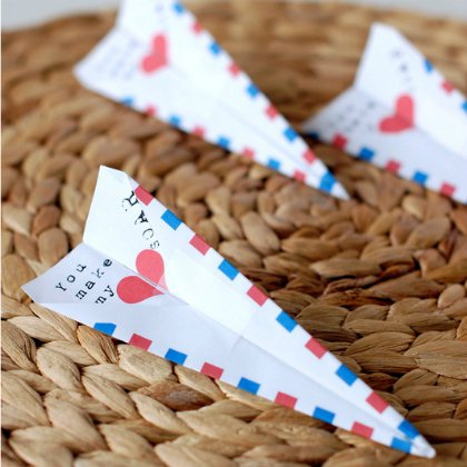 paper-airplane-valentines Aircraft Ideas for Kids