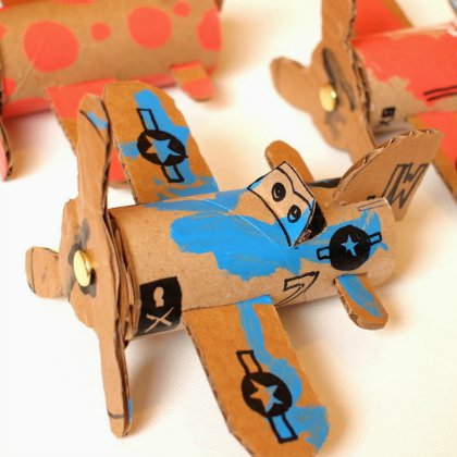 toilet-roll-skipper Aircraft Ideas for Kids