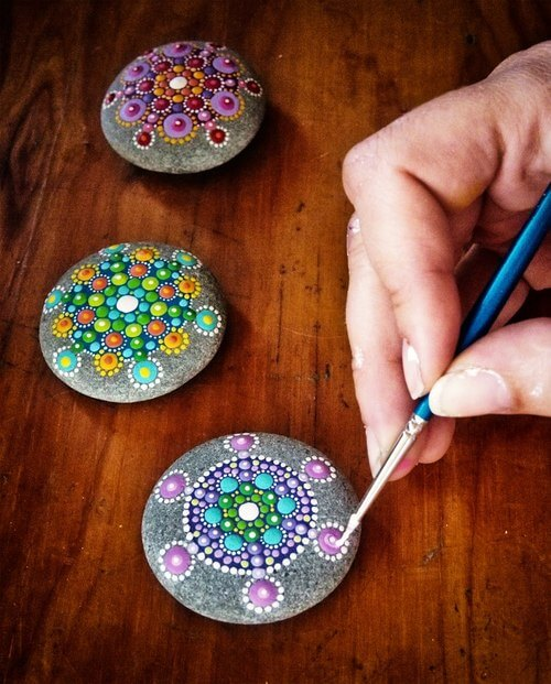 Ornated Decorative Stones Decorative Stones & Gravel, Paint Craft Ideas