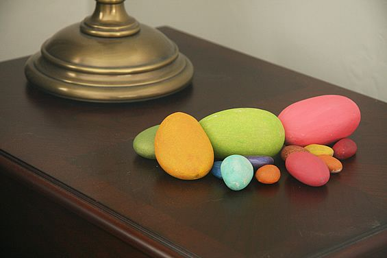 Bright Neon Painted Decorative Stones Decorative Stones & Gravel, Paint Craft Ideas