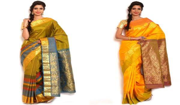 Tamilian women Saree Traditional Indian Dresses for Womens to Wear at Festivals