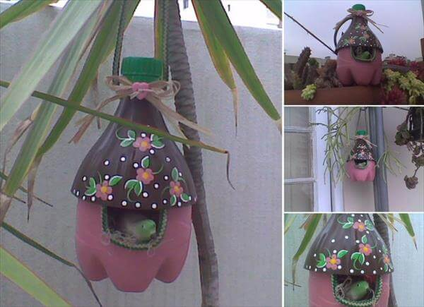 Beautiful Home for Birds from Plastic Bottle How to make things from plastic bottles