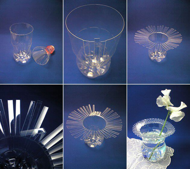 Make Bottle Vase in Simple Way How to make things from plastic bottles