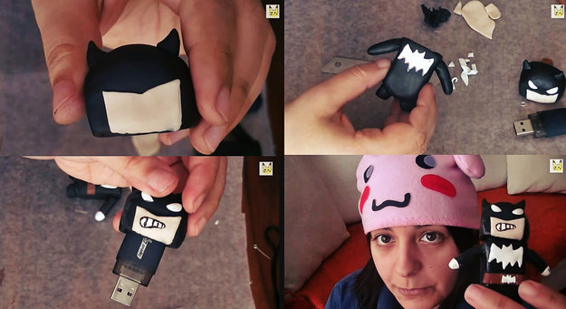 batman-usb-shell-because-why-the-hell Awesome Polymer Clay Project Video Tutorials