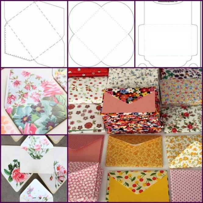 creative-ideas-diy-pretty-envelops-with-templates- Download Templates for Envelopes
