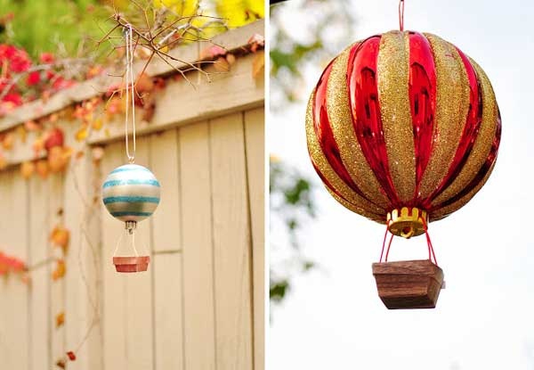 How to Make Hot Air Balloon Ornament Tutorial Easy and Affordable Christmas Decorations Ideas