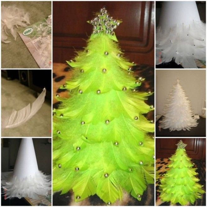 diy-christmas-tree-out-of-feathers-thumb-Make Beautiful Christmas Tree using Feathers